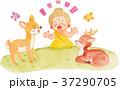 鹿に話すブッダ 37290705