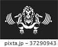 パワーリフティング バーベル しゃがむのイラスト 37290943