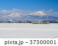 只見線 列車 冬の写真 37300001