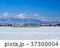 只見線 列車 冬の写真 37300004
