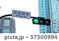渋谷駅前 スクランブル交差点の信号と標識 37300994