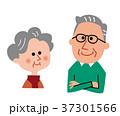 シニア 老人 老夫婦のイラスト 37301566