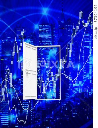 株式投資の株価ポイントのドア 37304192