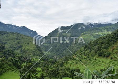 ネパール アンナプルナ 山の風景 37306198