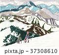 会津駒ヶ岳山スキー 燧ヶ岳遠景 37308610