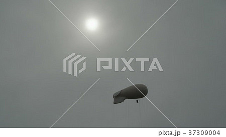 Airships Zeppelin gas helium floating in the sky 37309004