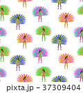 Girls in carnival costume seamless pattern 37309404