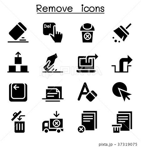 Remove, Erase, Delete icon set 37319075