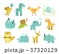 かわいい 可愛い 動物のイラスト 37320129