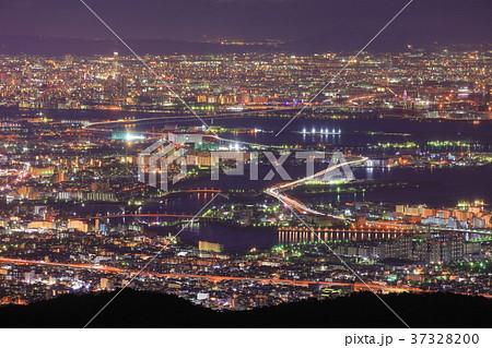 六甲山から見た大阪市の夜景 37328200