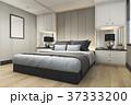 ベッド ベッドルーム 寝室のイラスト 37333200