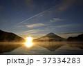 精進湖 逆さ富士 富士山の写真 37334283