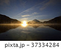 精進湖 逆さ富士 富士山の写真 37334284