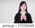 紙コップを持つ女子高生 37338446