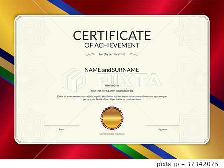 certificate template diploma design for completionのイラスト素材