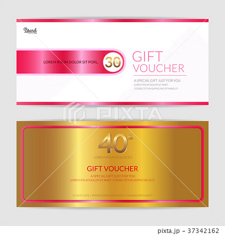 gift certificate voucher gift card cash couponのイラスト素材