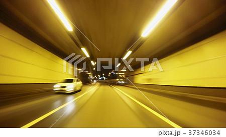 Night road POV through the city at night timelapse 37346034