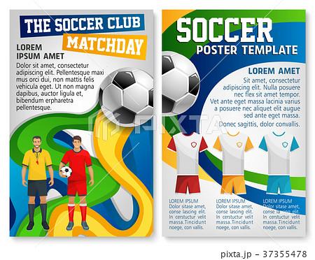 Soccer club team football match vector poster 37355478