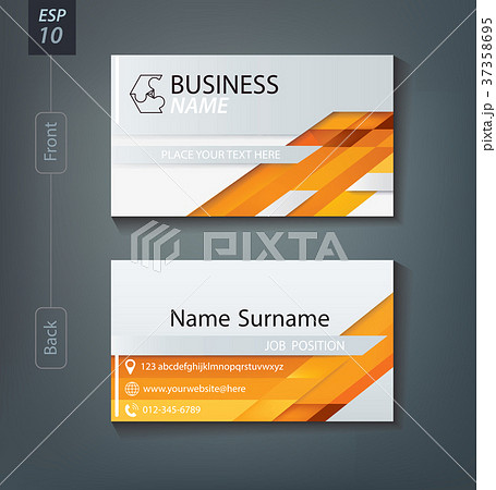business card name card design template のイラスト素材 37358695