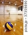 バレーボールと体育館[縦位置] 37359890