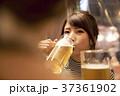 人物 女性 ビールの写真 37361902