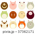 Set of round avatars icon with face of cute animal 37362171