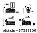 ソファー 横たわる ウソのイラスト 37363306