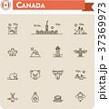 Canada travel icon set 37369973
