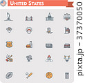 United States travel icon set 37370050