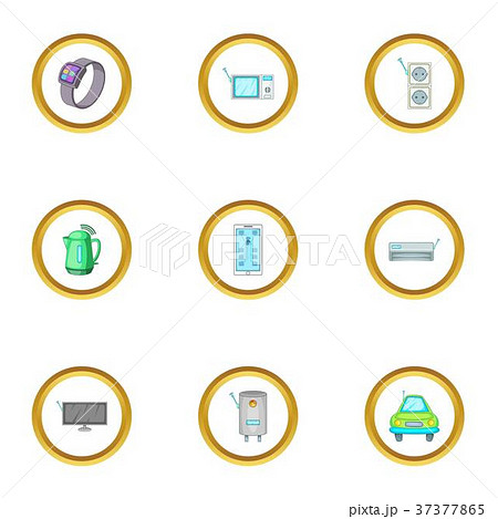 Smart home device icons set, cartoon style 37377865