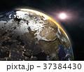 地球 朝焼け 日の出のイラスト 37384430