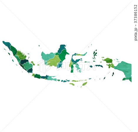 インドネシア 地図 国 アイコン  37386152