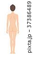 後ろを向いた女性の身体(主線なし) 37386489