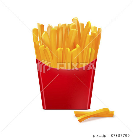 Realistic Detailed 3d French Fries. Vector 37387799
