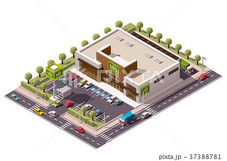 Vector isometric supermarket 37388781