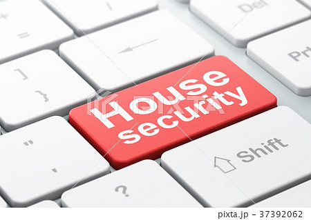 Security concept: House Security on computer 37392062