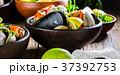 蟹 ムール貝 ムラサキイガイの写真 37392753
