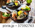 蟹 ムール貝 ムラサキイガイの写真 37392763