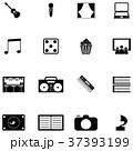 アイコン 娯楽 エンターテイメントのイラスト 37393199