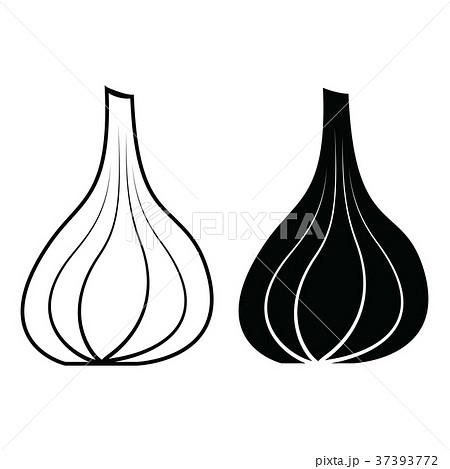 garlic icon vector 37393772
