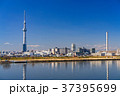 《東京都》スカイツリーを望む・爽やかな朝の風景 37395699