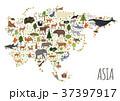 Flat Asian flora and fauna map constructor  37397917