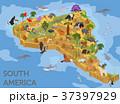 南米大陸 アイソメトリック アイソメのイラスト 37397929