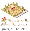 Vector isometric low poly playground icon 37399166