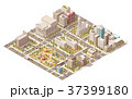 ベクトル 都市 市街のイラスト 37399180