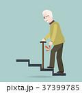 年配 杖 老人のイラスト 37399785