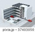 自動搬送ロボットを利用して無人駐車できる全自動駐車システムのコンセプトイメージ 37403050