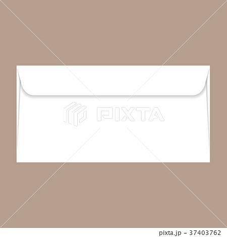 Back side dl envelope mockup, realistic style 37403762