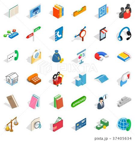 Piggy bank icons set, isometric style 37405634