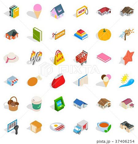 Lovely icons set, isometric style 37406254